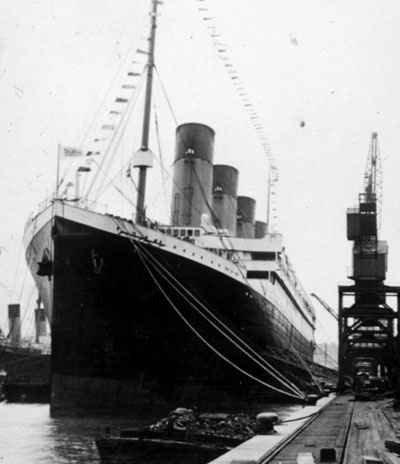 Titanic in port